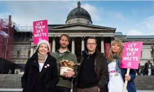 The Pig Idea in Trafalgar Square : food waste for pig